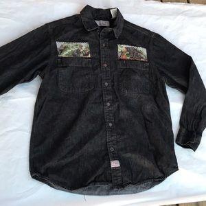 Men's Levi's black denim shirt size Medium